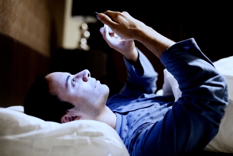 Consider turning your phone off at least one hour before going to bed.